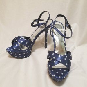 Bakers Polka Dot Platform Heels